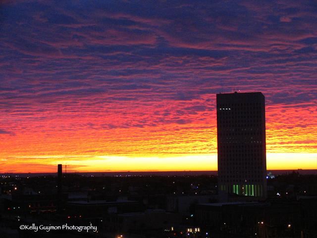 Sunrise over Galveston, Texas